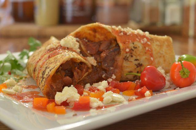 буррито с овощами