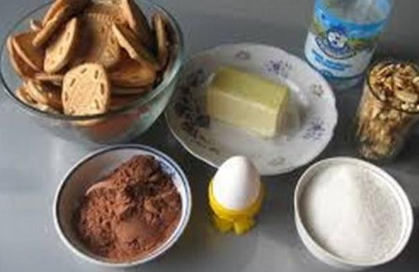 ингредиенты для шоколадной колбаски