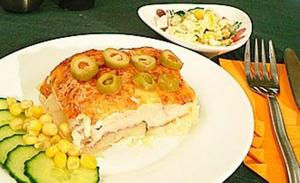 рыба запеченная с картошкой и сыром