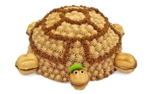Торт черепаха из классического бисквита украсит любой стол и не доставит хлопот с приготовлением