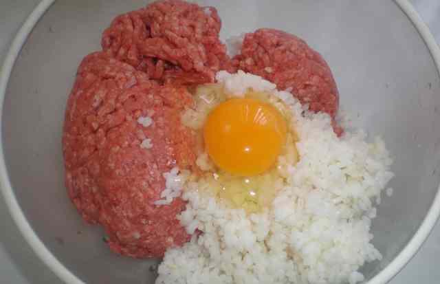 фарш рис яйцо