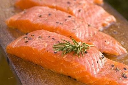 Куски лосося