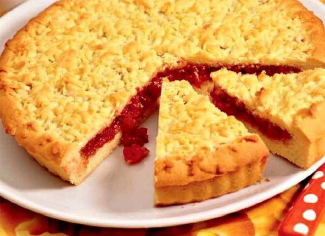 Песочное тесто для открытого пирога
