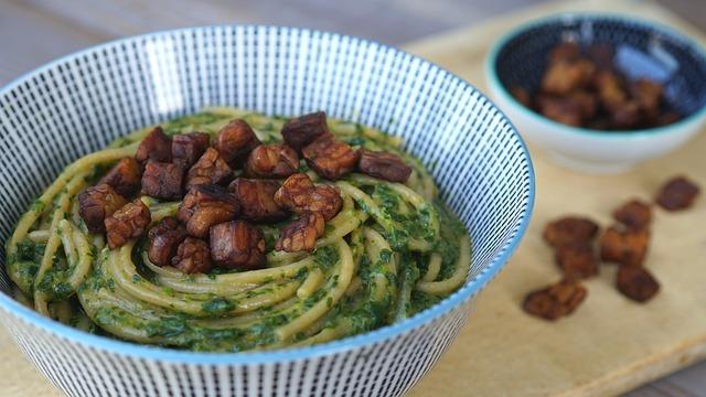 Простой рецепт пасты с шпинатом за 15 минут